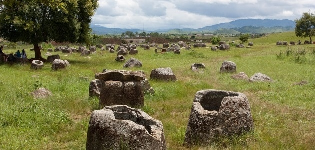 The Plain of Jars: A big plain… full of jars
