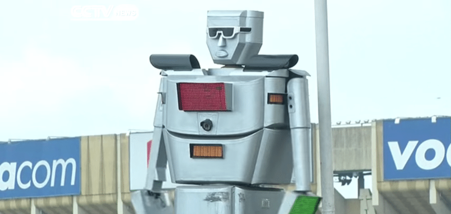 The Congo's solution for tackling traffic – robots!