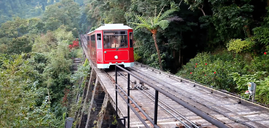 Hong Kong's Peak Tram: The train we used in our adverts