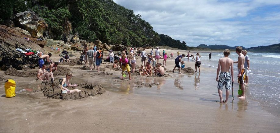 Hot Water Beach: What's hot, wet and sandy?
