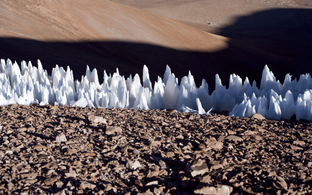 Penitentes: Incredible blades of ice that point towards the sun