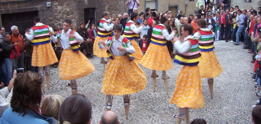 The spinning stilt dancers of Anguiano
